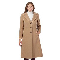 The Collection Petite - Beige wool blend coat