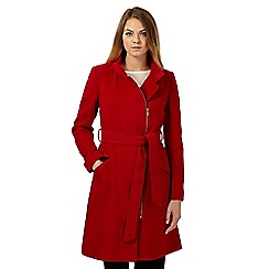 The Collection - Red fitted biker coat