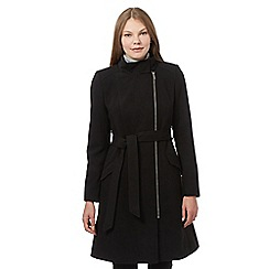 The Collection Petite - Black zip biker coat