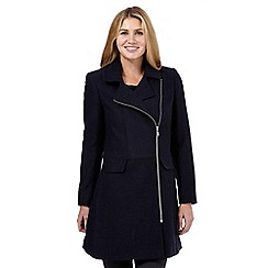 The Collection Petite - Navy biker coat