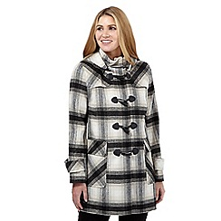 The Collection - Cream checked duffle coat