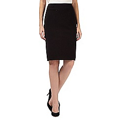 The Collection Petite - Petite black pleat back work skirt