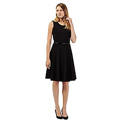 The Collection - Black fit and flare workwear dress