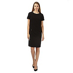 The Collection - Black workwear shift dress