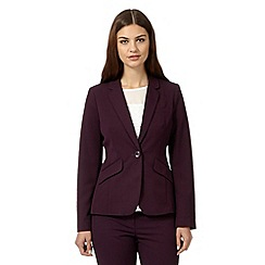 The Collection - Wine tailored fit blazer
