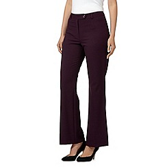 The Collection - Wine kick flare suit trousers