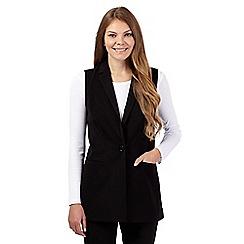 The Collection - Black smart longline waistcoat