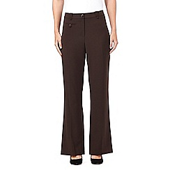 The Collection - Dark brown bootcut trousers
