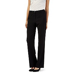 The Collection Petite - Petite black smart bootcut long trousers