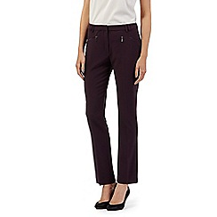 The Collection Petite - Petite wine zip pocket slim leg trousers