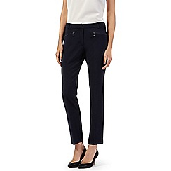 The Collection Petite - Petite navy zip pocket slim leg trousers