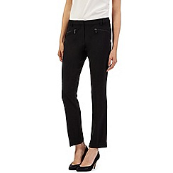 The Collection Petite - Black zip slim leg trousers
