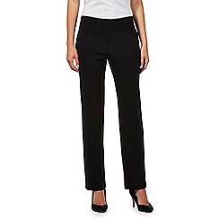 The Collection Petite - Black ponte trousers