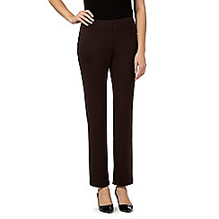 The Collection - Dark brown pull-on ponte trousers