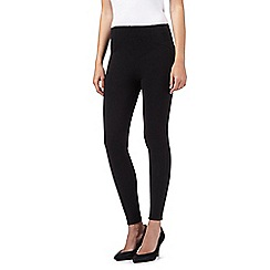 The Collection Petite - Black ponte treggings