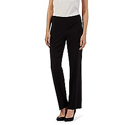 The Collection Petite - Black straight leg smart trousers