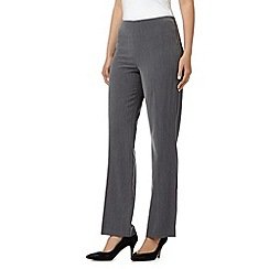 The Collection Petite - Grey straight leg smart trousers