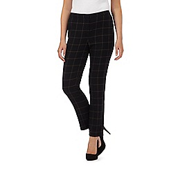 The Collection - Black smart windowpane check trousers