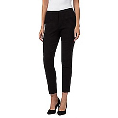 The Collection Petite - Black dogtooth trousers
