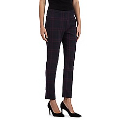 The Collection Petite - Navy checked slim leg trousers