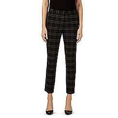 The Collection - Grey checked slim leg trousers