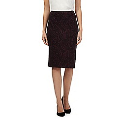 The Collection - Dark purple swirl ponte skirt
