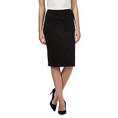 The Collection - Black swirl ponte skirt