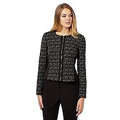 The Collection - Black ponte tweed jacket