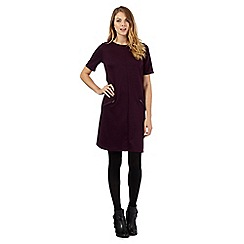 The Collection - Dark purple ponte zip detail dress