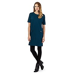 The Collection - Dark turquoise ponte zip detail dress