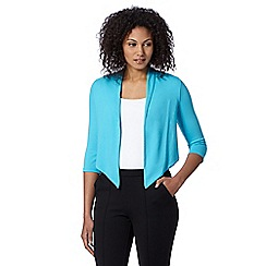 The Collection Petite - Petite turquoise cropped jersey cardigan