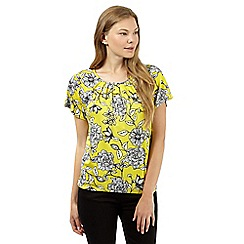 The Collection - Lime floral jersey top