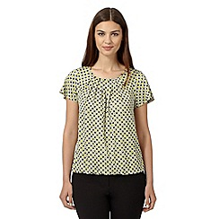 The Collection - Lime geometric bubble hem top