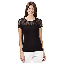 The Collection - Black rose lace top