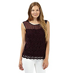 The Collection - Wine lace front top