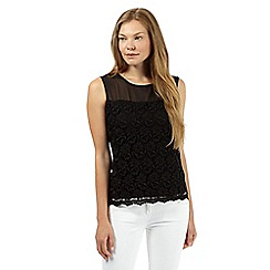 The Collection Petite - Black lace front top