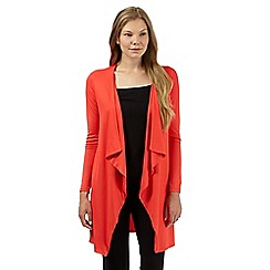 The Collection - Coral longline jersey cardigan