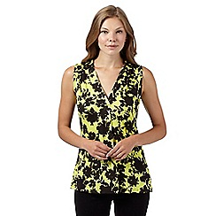 The Collection - Lime shadow floral jersey top