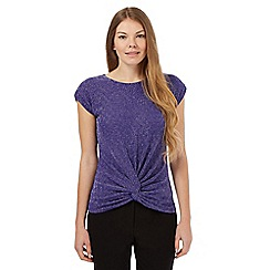 The Collection Petite - Purple sparkle twist detail top