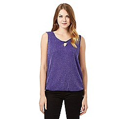 The Collection - Purple glitter bubble hem top