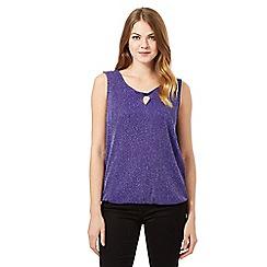The Collection - Purple glitter bubble hem top