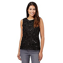 The Collection - Black sequinned top