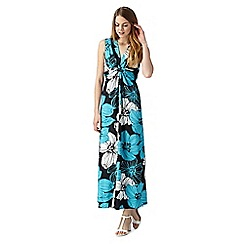 The Collection - Black floral tie back maxi dress