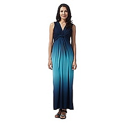 The Collection - Turquoise wrap ombre maxi dress