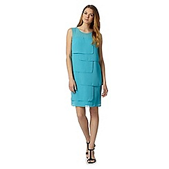 The Collection Petite - Petite turquoise square layer dress