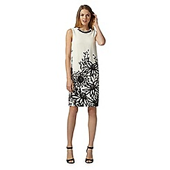 The Collection - Ivory agapanthus shift dress