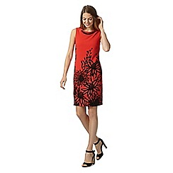 The Collection - Red agapanthus shift dress