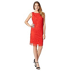 The Collection - Red lace overlay shift dress