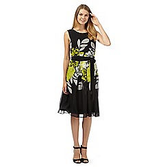 The Collection - Black floral prom dress