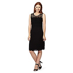 The Collection - Black lace layered scalloped shift dress